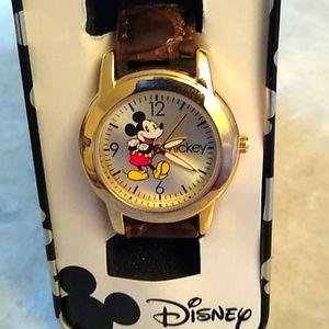 NIB - Disney Mickey Mouse Watch Croco Leather Band